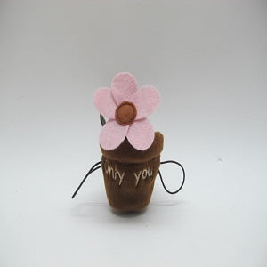 "FLOWERPOT WITH EMBROIDER ""ONLY YOU"""