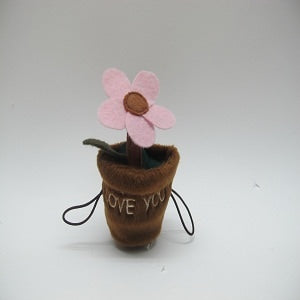 "FLOWERPOT WITH EMBROIDER ""LOVE YOU"""
