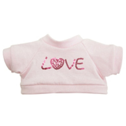 "T-SHIRT W/ EMBROIDER ""LOVE"" 25"" PINK VAL"