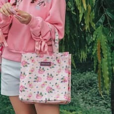 SHOPPING BAG SUMMER TIME PINK VACAY
