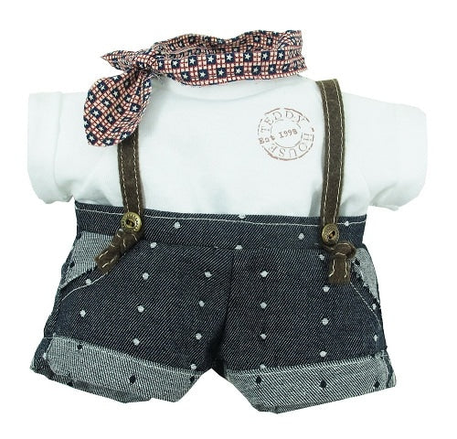 "DUNGAREES W/ T-SHIRT 31"" TEDDY IN COUNTRY"
