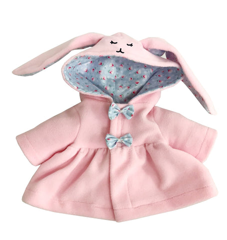 DRESS WITH BUNNY HOOD PINK 12 INCHI