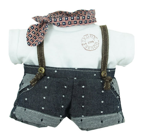 "DUNGAREES W/ T-SHIRT 22"" TEDDY IN COUNTRY"
