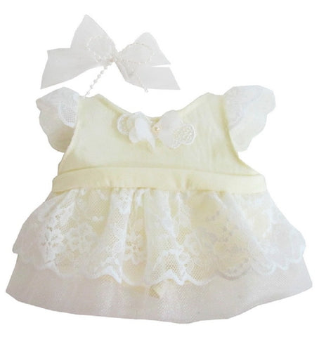 "SWEETY LACE DRESS CREAM 12"" LOVELY"
