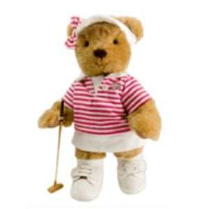 TEDDY HOUSE BONEKA TEDDY BEAR SPC: ROSE - GOLF GIRL 10 INCHI PINK