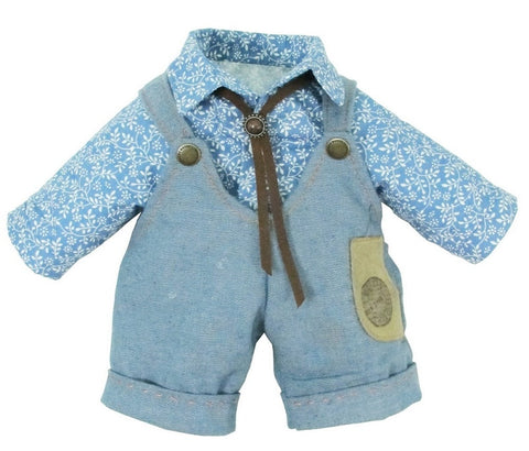 "DUNGAREES W/ SHIRT 18 "" TEDDY IN COUNTRY"