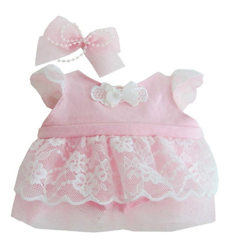 "SWEETY LACE DRESS PINK 18"" LOVELY"