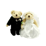 TEDDY HOUSE BONEKA TEDDY BEAR SPC : JO JR - BRIDGE n GROOM 8 INCHI