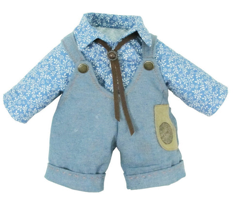 "DUNGAREES W/ SHIRT 14 "" TEDDY IN COUNTRY"