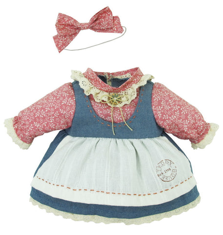 "DENIM SKIRT W/ SHIRT 12"" TEDDY IN COUNTRY"