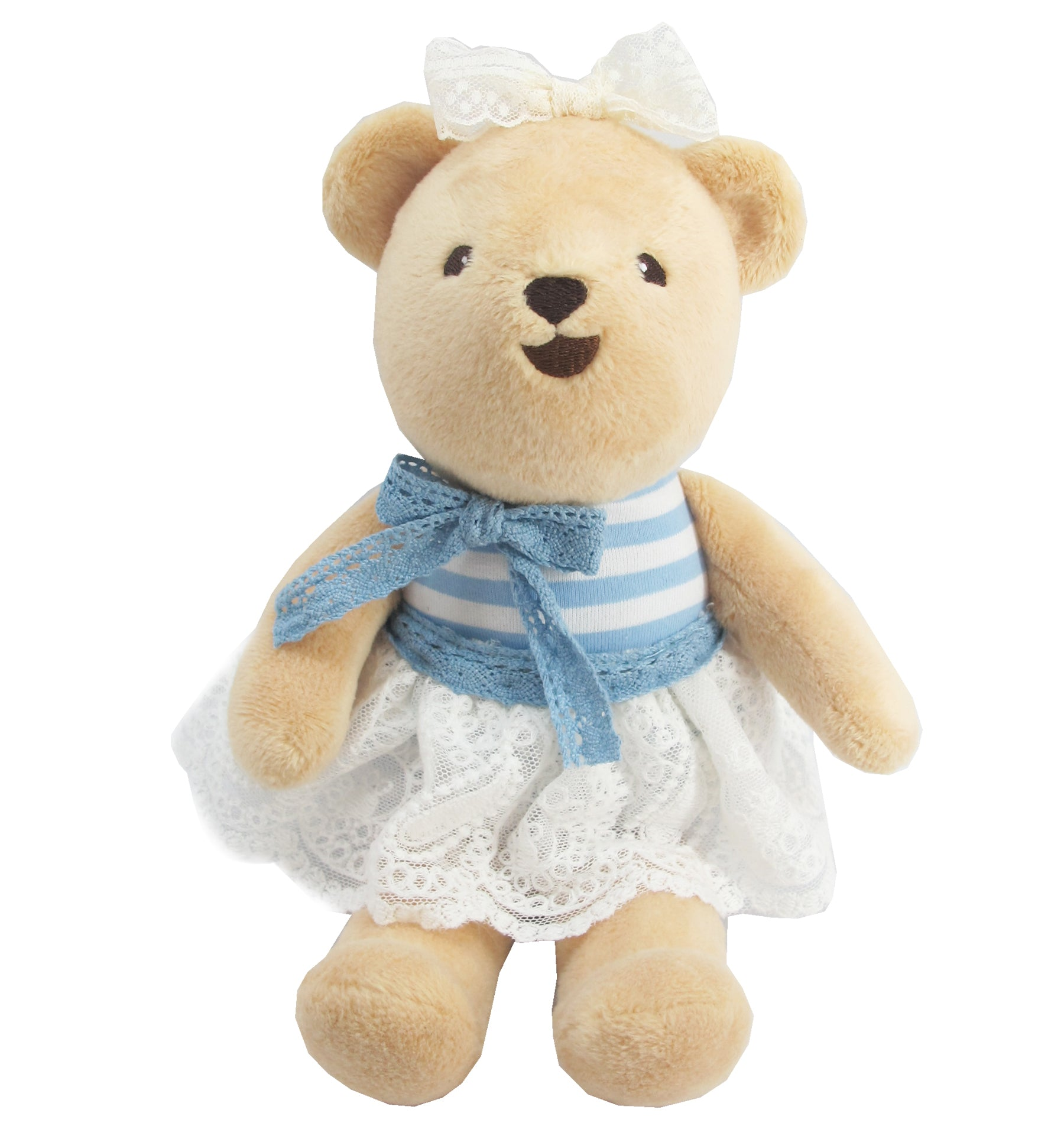BEAR WITH OUTFITS GIRL (BLUE) 10 INCHI M COLLECTION