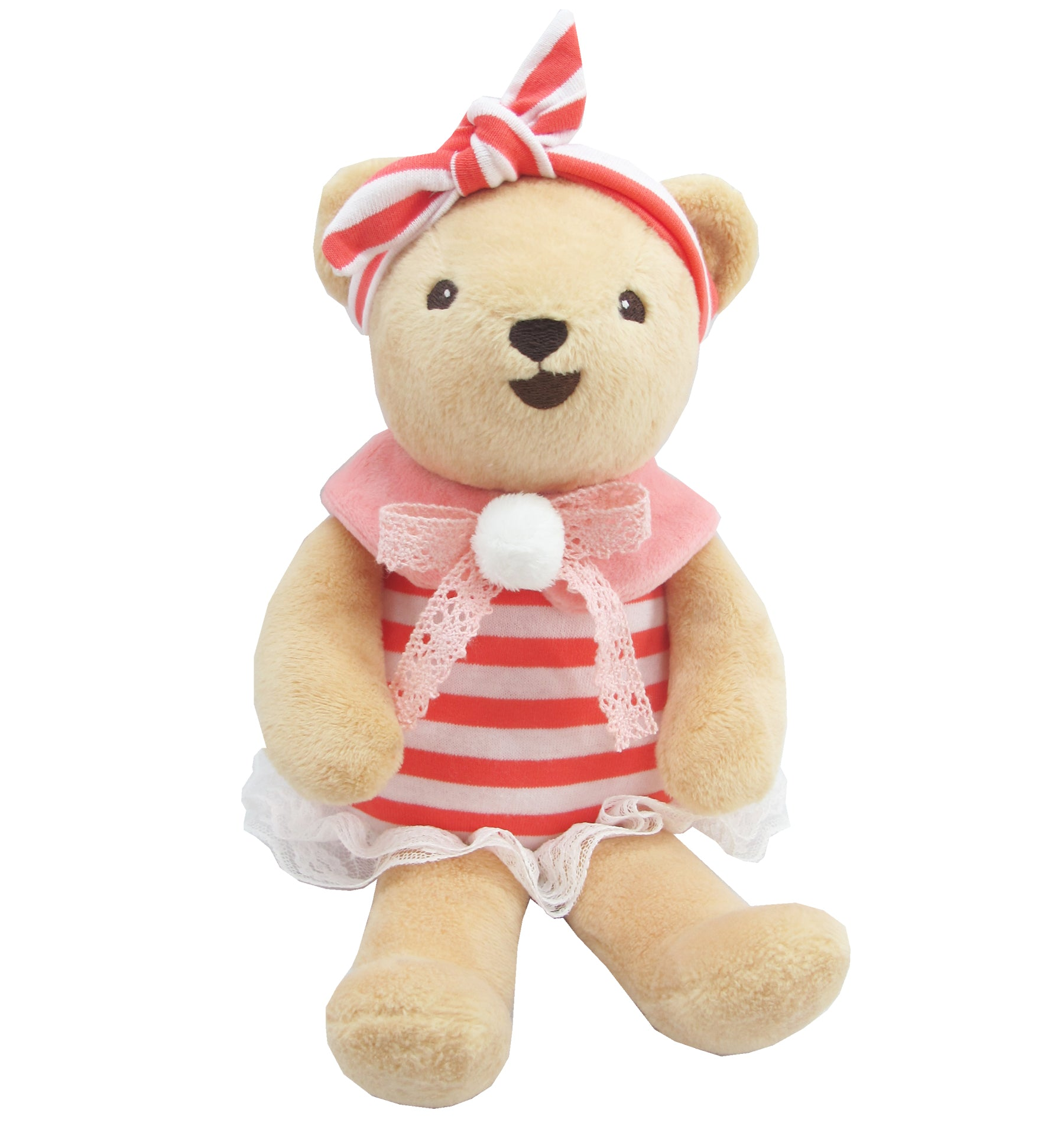 BEAR WITH OUTFITS GIRL (OLD ROSE) 10 INCHI M COLLECTION