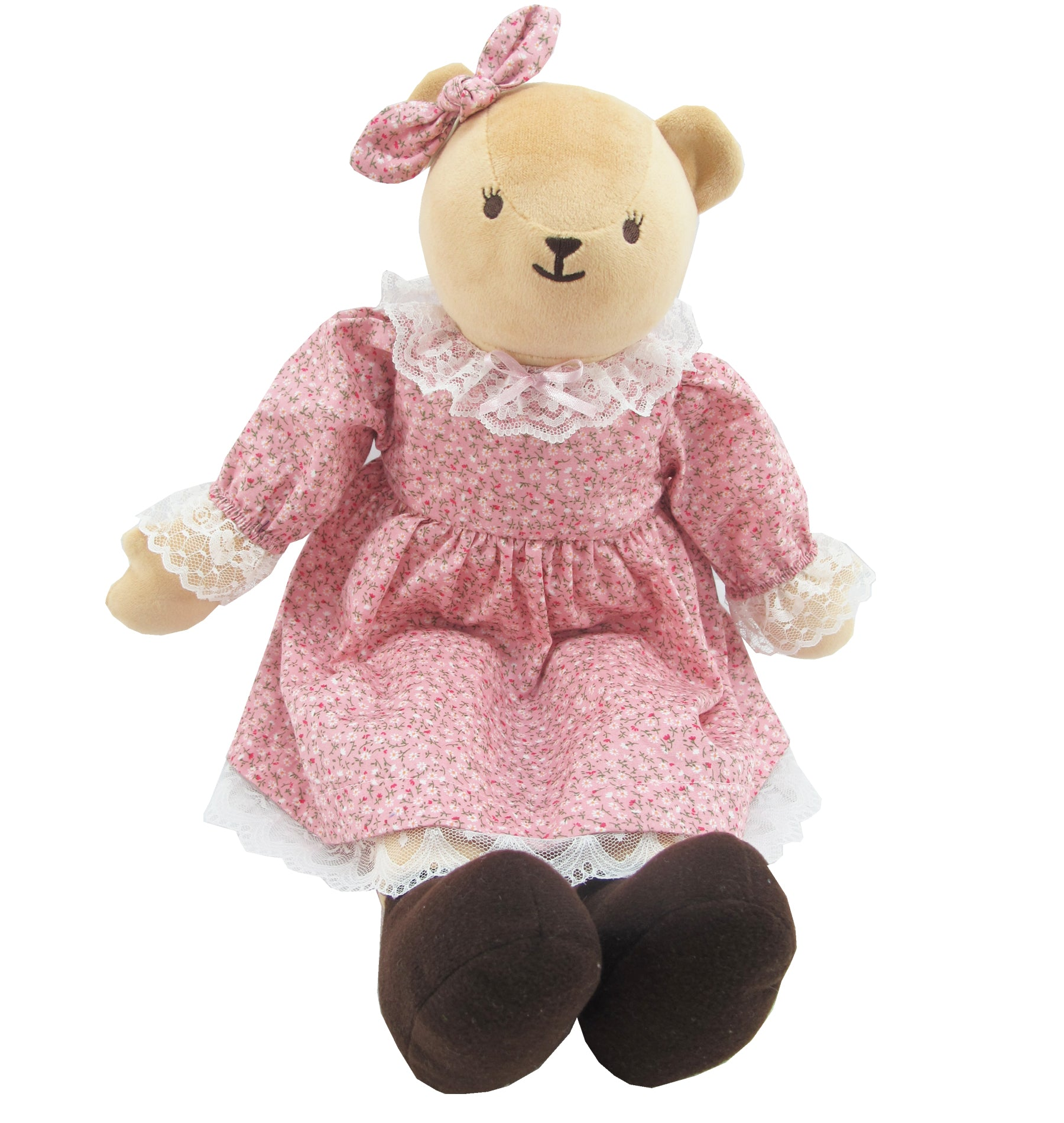 BEAR WITH OUTFITS GIRL 16 INCHI M COLLECTION