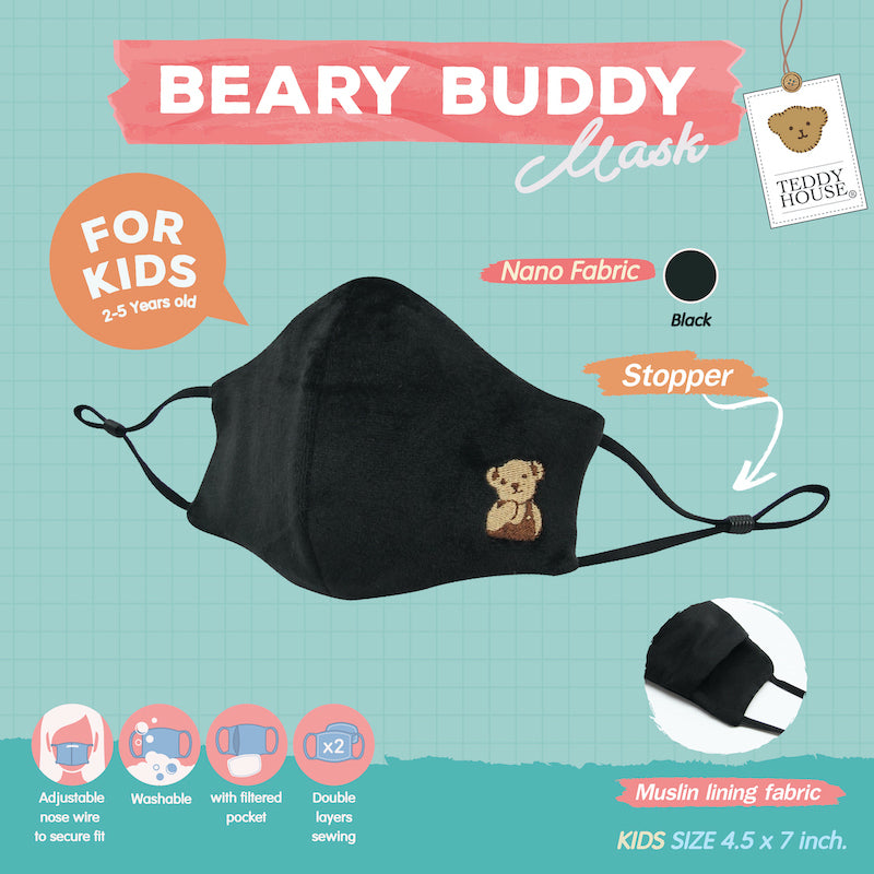 FABRIC MASK - 3D NANO BEARY BUDDY FOR KIDS (LOGOE, KEN, ZEIRA)