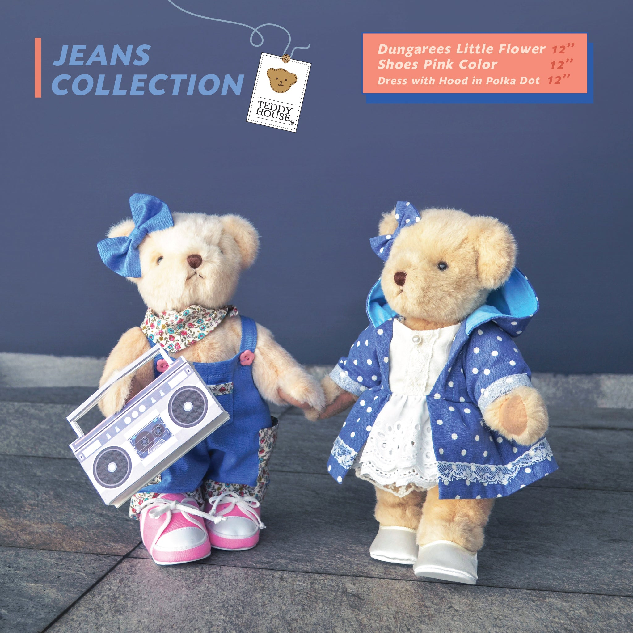 SPECIAL 2 SET BEAR KEN WITH OUTFIT + SHOES 12 INCHI