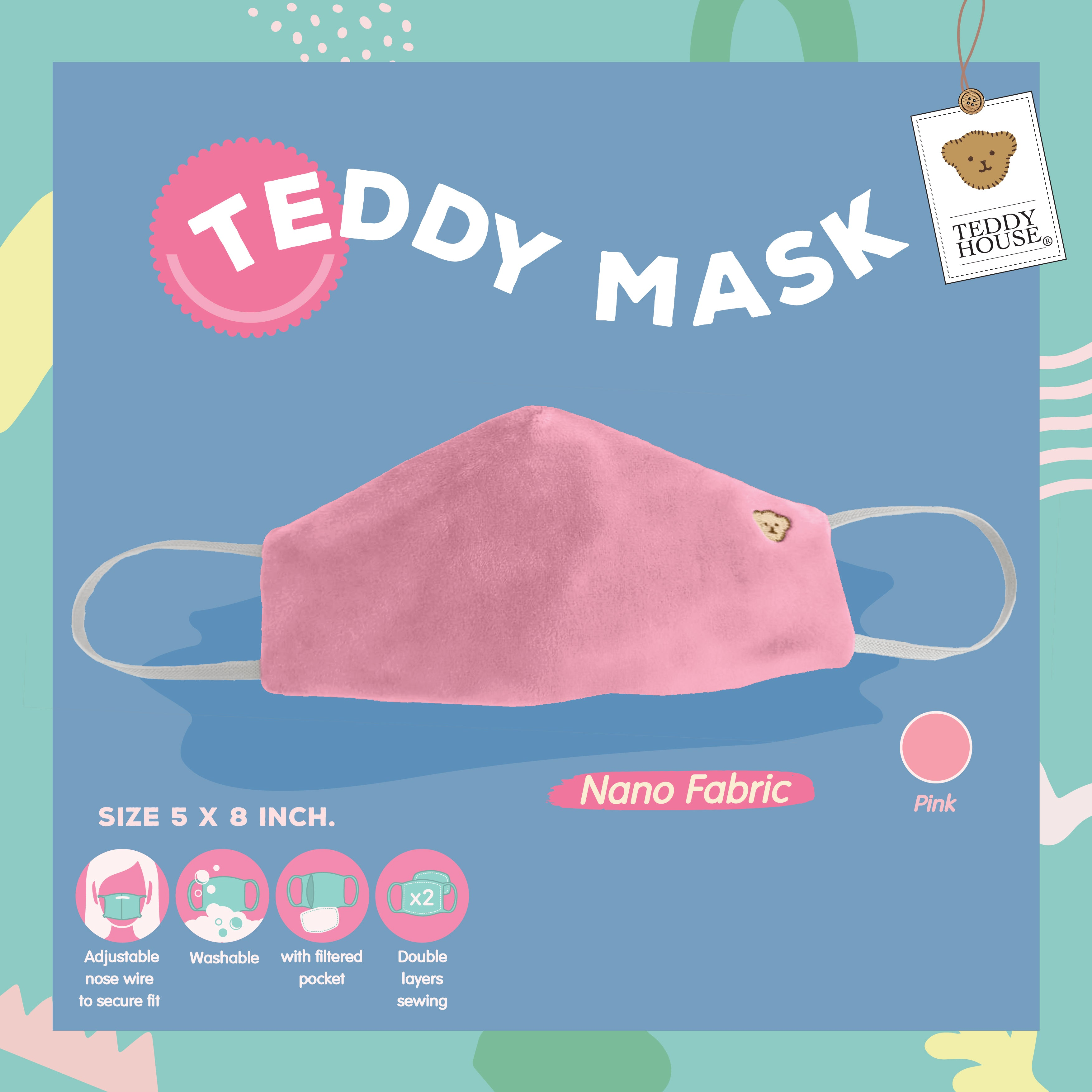 FABRIC MASK - NANO FOR ADULT (GRAY, BEIGE, PINK, CREAM)