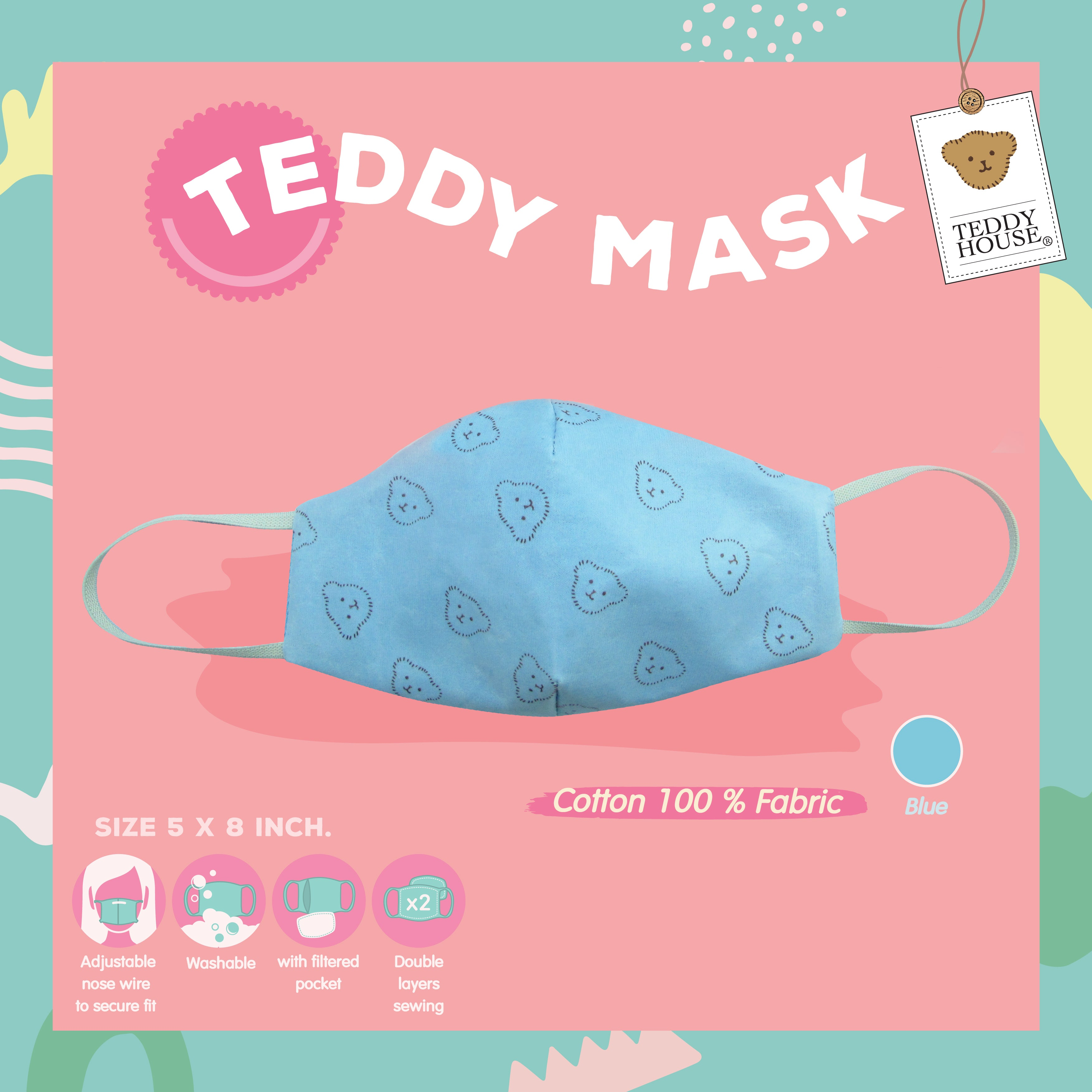 FABRIC MASK - PATTERN COTTON FOR ADULT/KIDS