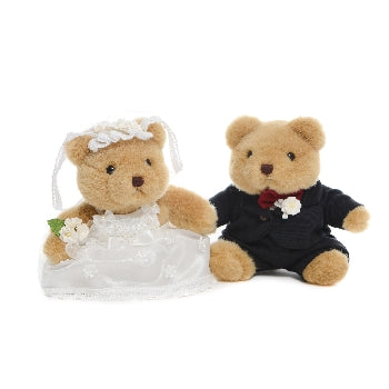 SPECIAL SET TEDDY IN LOVE BRIDE AND GROOM 5 INCHI