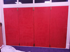 Red doors for a mural to be painted