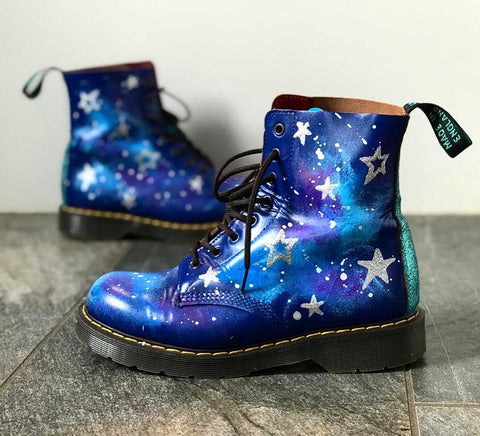 Hand painted solovair boots by Anya's Studio