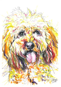 Watercolour Pet Portrait