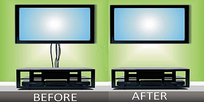 How To Hide Tv Wires For A Wall Mounted Tv Firefold