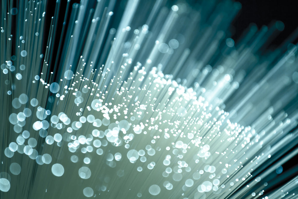 Fiber optics close-up