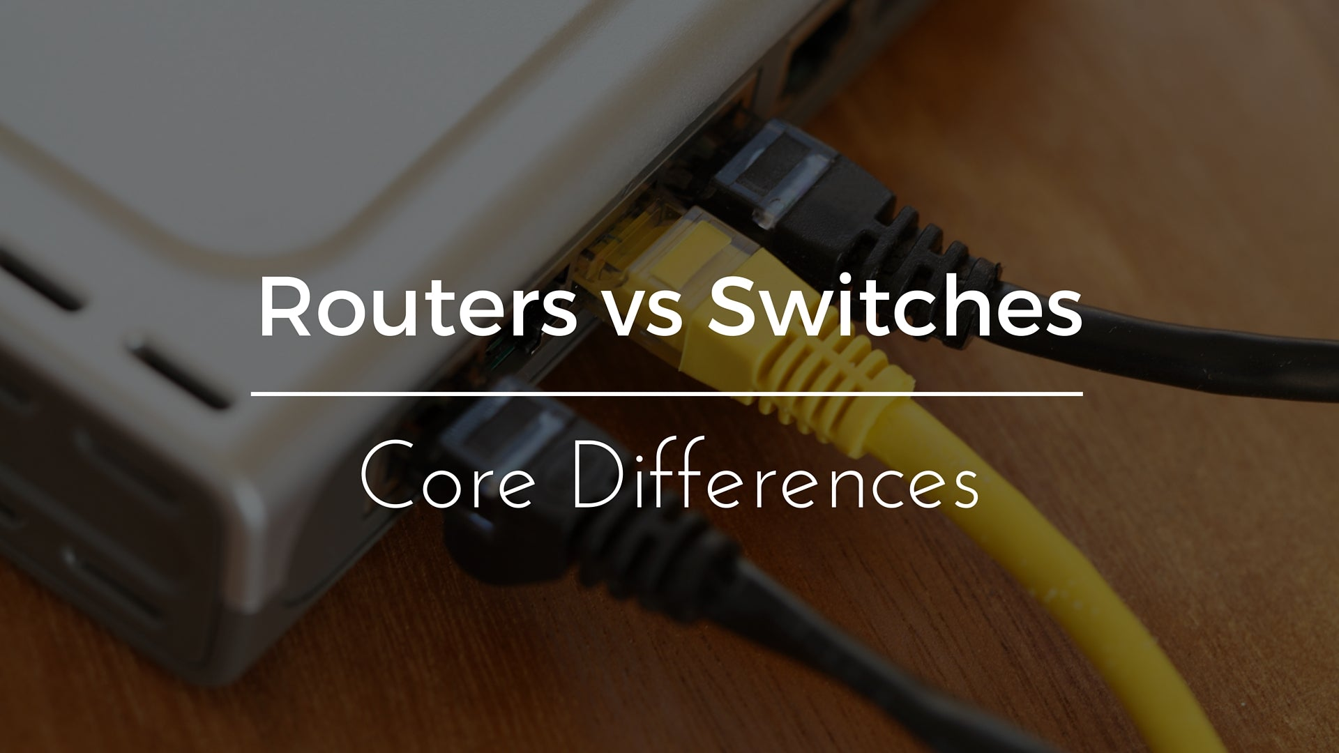 Routers vs Switches