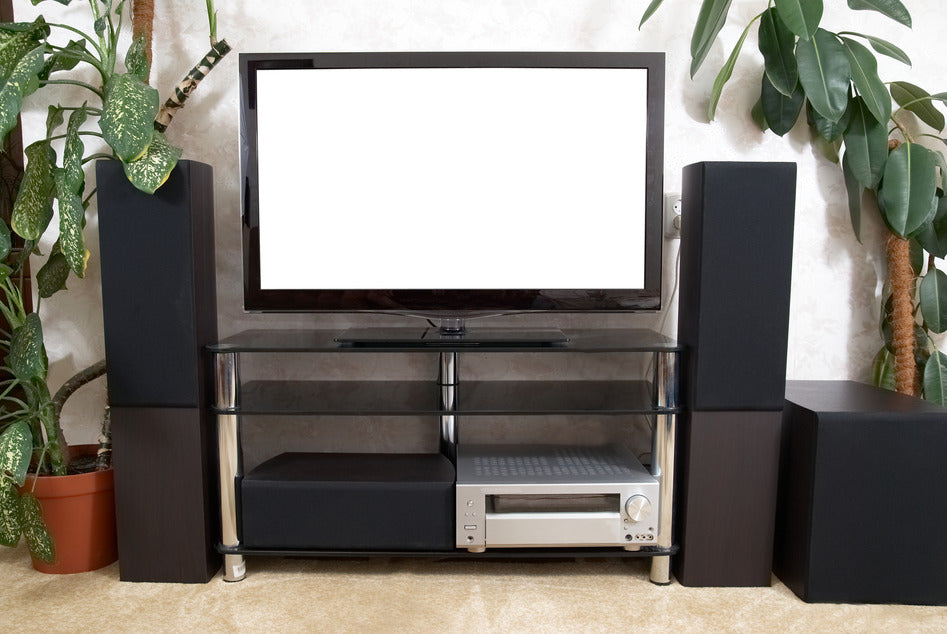 Home theater with plasma tv and hi-fi acoustics