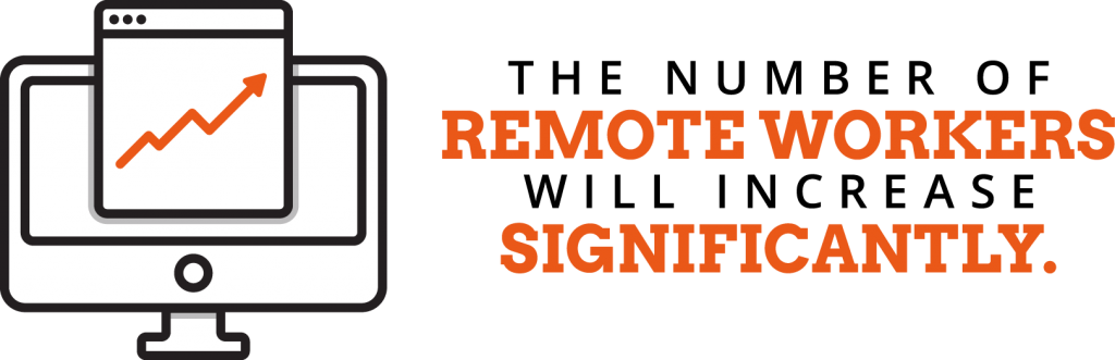 The number of remote workers will increase significantly