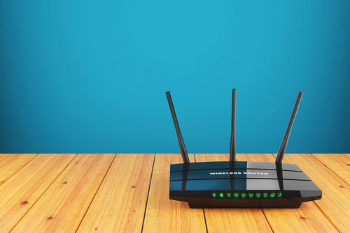 Wi-Fi wireless router on table