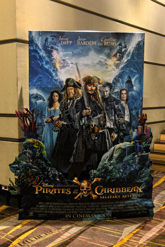 pirates of the caribbean movie display