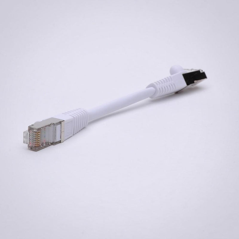 Cat5E Shielded Ethernet Patch Cable, Snagless Boot, White