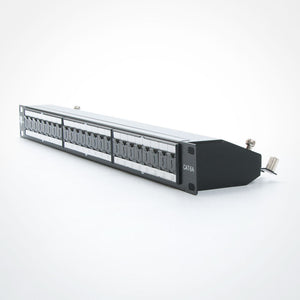 Vertical Cable 042-C6A/24 24 Port CAT6A Shielded Patch Panel - Krone Type 1U