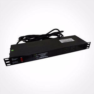 1U Rack Mount Power Distribution Unit PDU with 10+2 AC Outlets