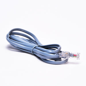 RJ11 Telephone Cable - Straight Data Side View