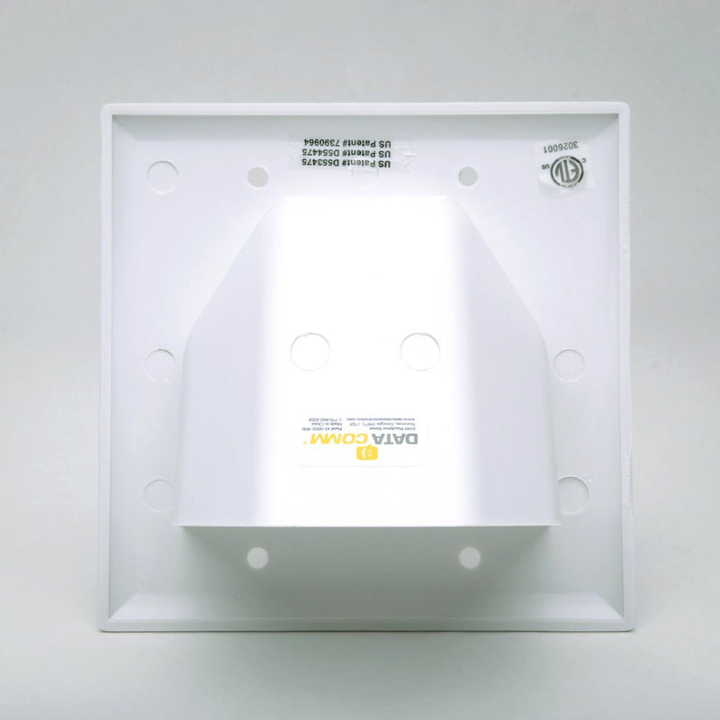 DataComm Recessed Bulk Cable Wall Plate