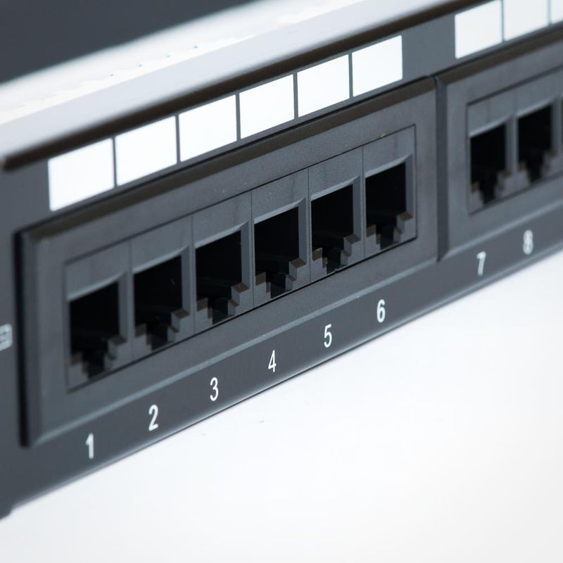 Cat6 Patch Panel and Wall Mount Bracket Combo