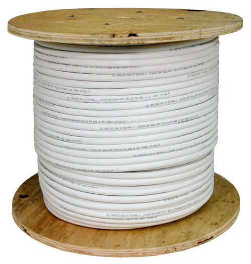 Vertical Cable 1000ft Solid Cat5E Cable - 24AWG 50 Pair 350MHz CMR Bulk Ethernet