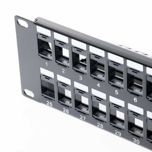 Vertical Cable 48 Port Blank Patch Panel with Cable Manager Image 2