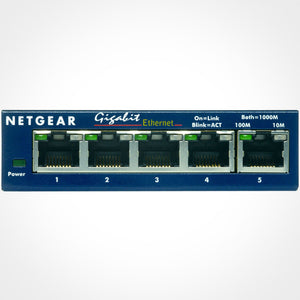 NETGEAR GS105 ProSafe 5-Port 10/100/1000Mbps Gigabit Desktop Switch