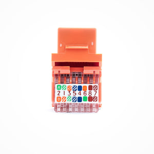 Cat5E Keystone Jack - Toolless, Orange Image 3