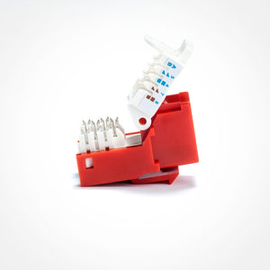 Cat6 Keystone Jack - Toolless, Red Image 2