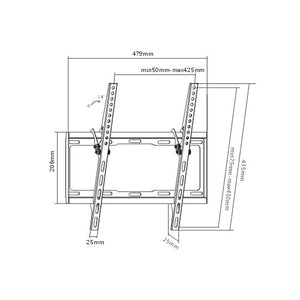 Rhino Brackets Low Profile Tilt TV Wall Mount for 32-55 Inch Screens Diagram