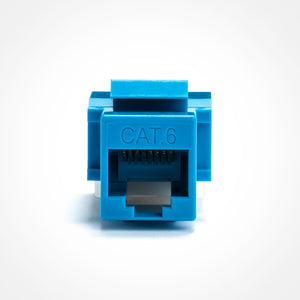 Cat6 Keystone Jack - Toolless Front View