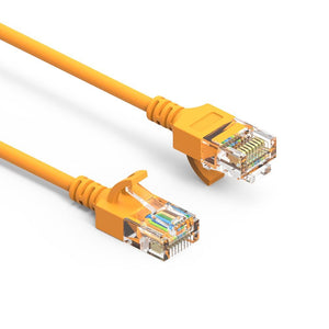 Cat6A Slim Ethernet Patch Cable, Yellow - Firefold