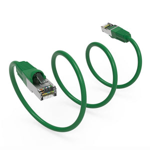 Cat6 Shielded Ethernet Patch Cable, Snagless Boot, Green Alternate 3