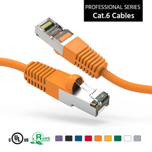 Cat6 Shielded Ethernet Patch Cable, Snagless Boot, Orange Alternate 1