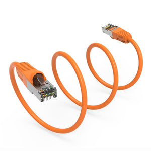 Cat6 Shielded Ethernet Patch Cable, Snagless Boot, Orange Alternate 3