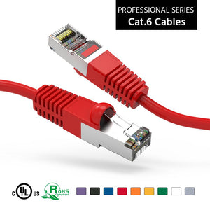 Lifetime Wty Snagless Boot 200ft Orange Shielded CAT6 Ethernet Patch Cable